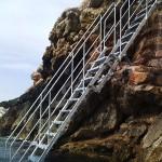 Escalera de hierro extensible