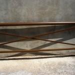 Barana d'alumini lacat imitació fusta