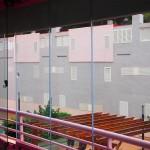Cortina de cristal Seeglass con apertura intermedia de ventilación