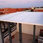Coberta fixa de panel autoportant 52 mm alumini blanc