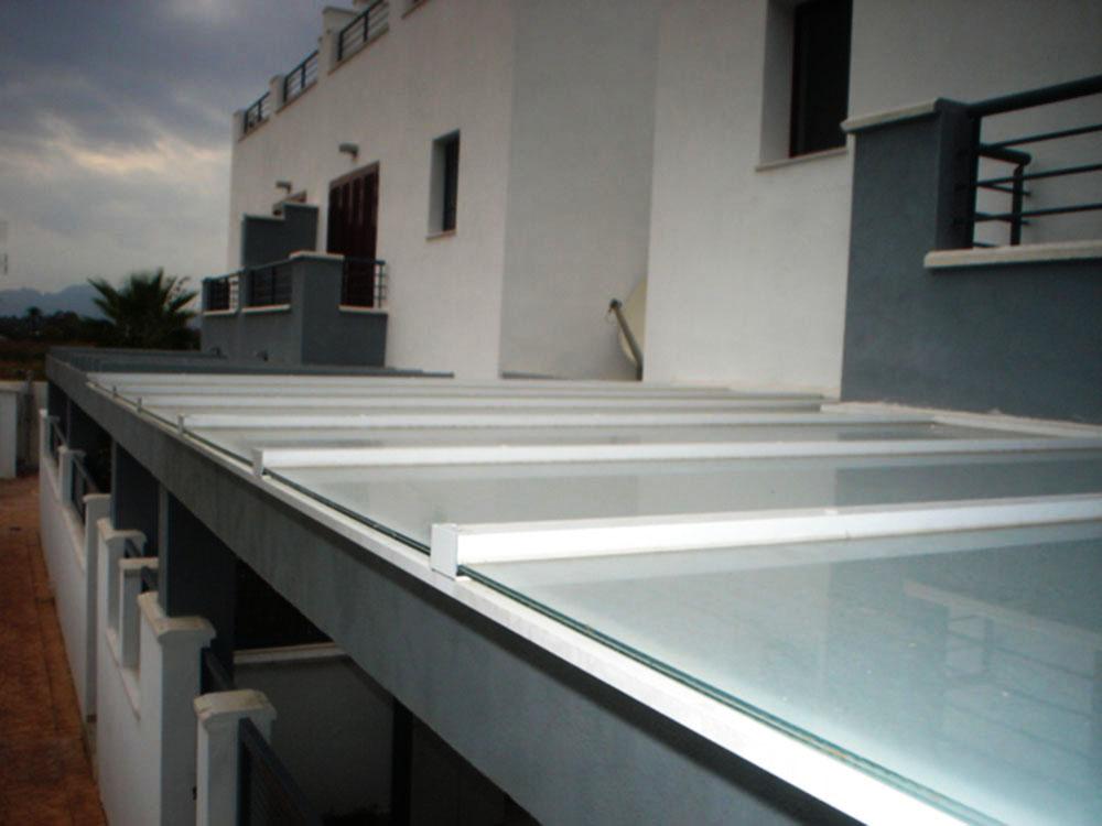 Cubiertas fijas de cristal policarbonato panel o chapa fabricadas a medida - Cubierta de cristal ...