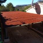 Coberta fixa de xapa de ferro imitació teula