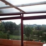 Vista interior de la finestra ventil·lació de la coberta mòbil