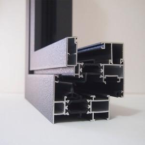 Detall d'alumini amb rotura tèrmica