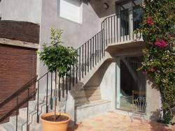 Barandilla de escalera con pletina de hierro